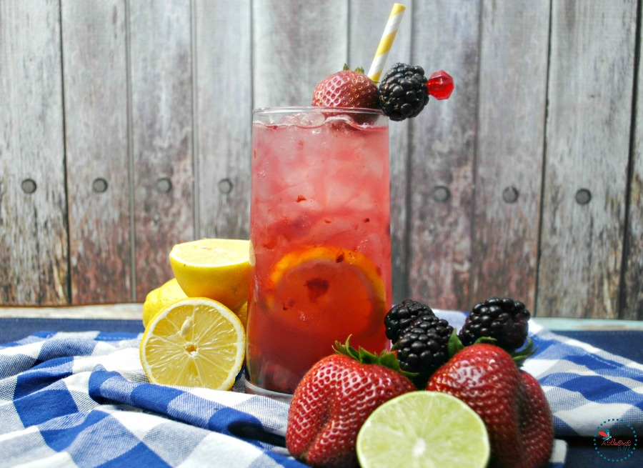 Berry Smash Lemonade made with real berries