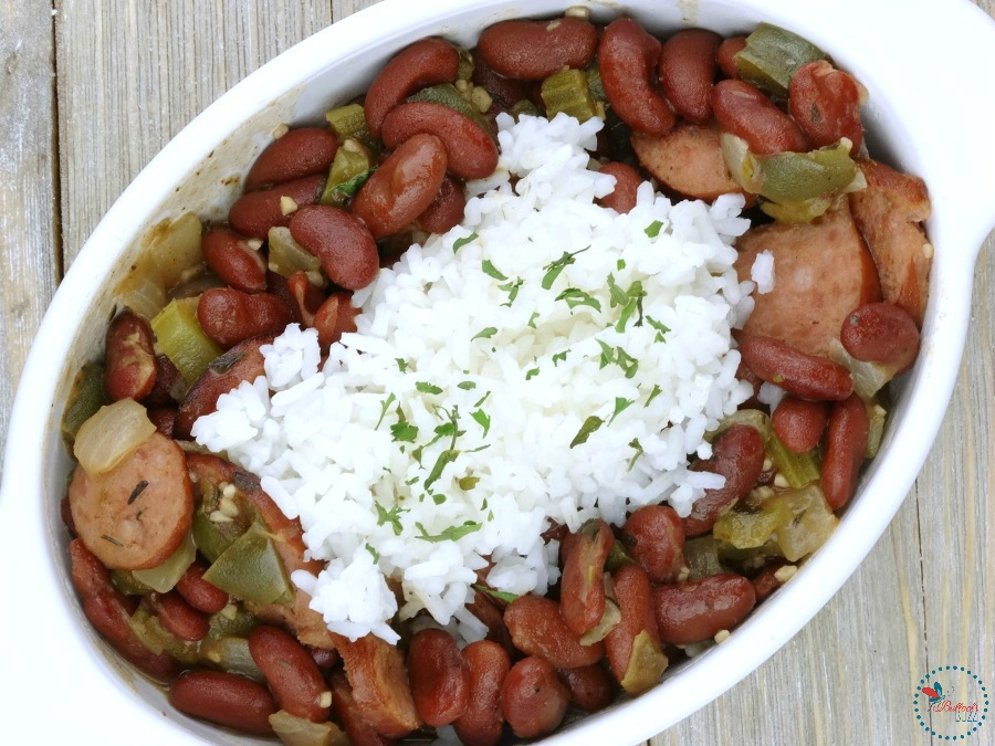 red beans and rice finished