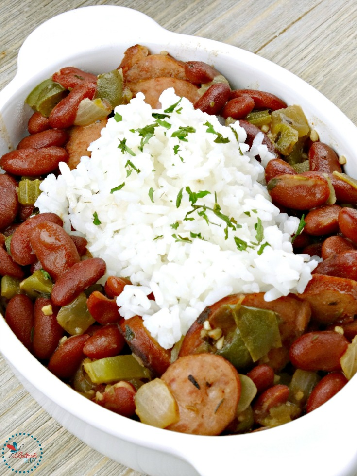 Enjoy Cajun food even when you're not in New Orleans with this simple weeknight Red Beans and Rice recipe. Smoky, hearty and slightly spicy, this incredibly delicious Red Beans and Rice is the ultimate Cajun comfort food. Canned beans makes this recipe quick and simple, yet rich and complex in flavor.