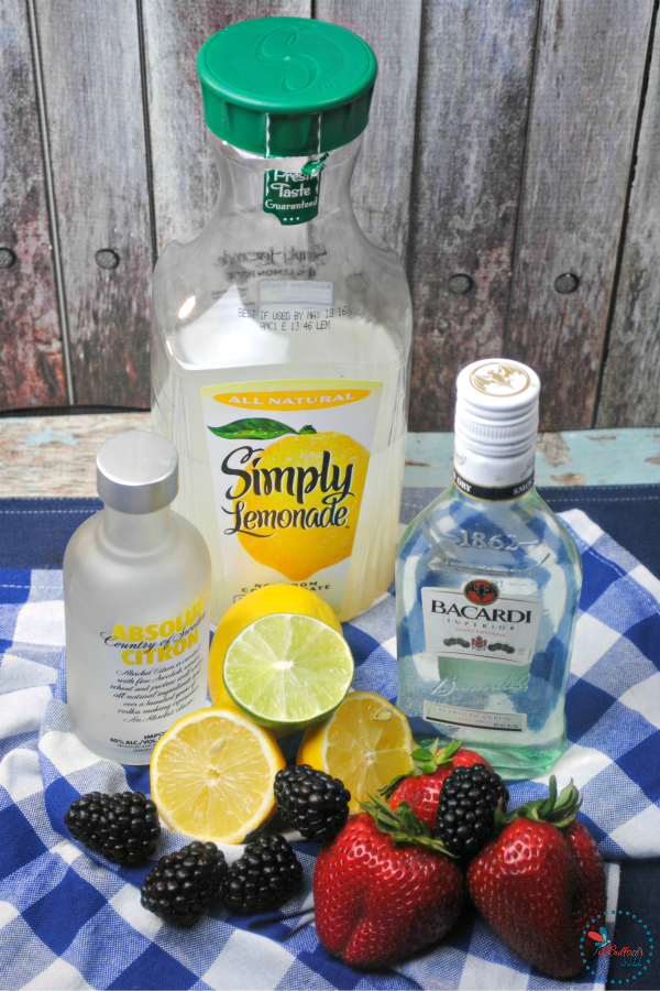 Berry Smash Lemonade ingredients