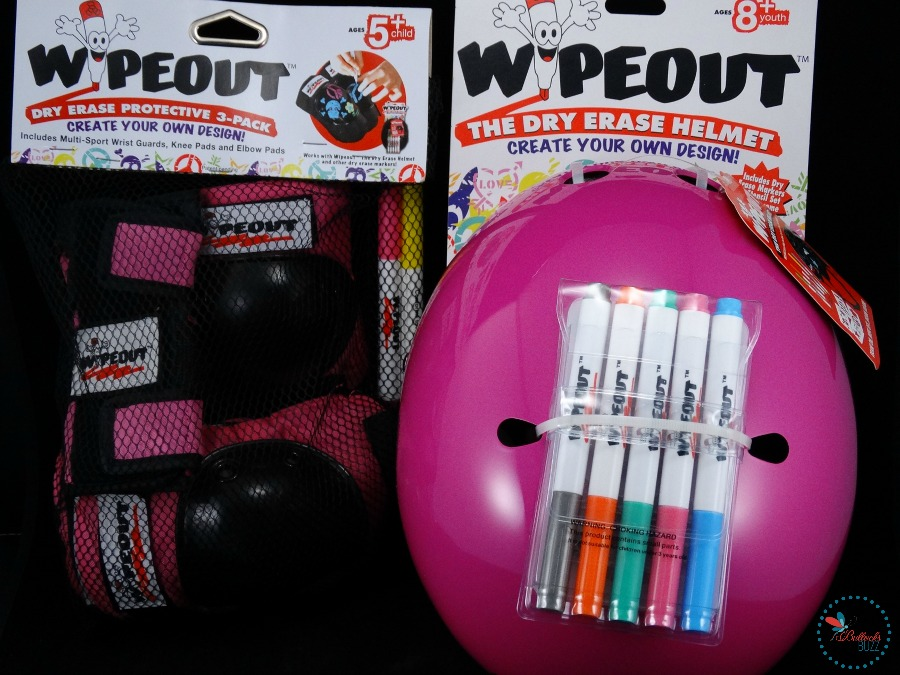 Wipeout Dry Erase Protective Gear helmet and pads