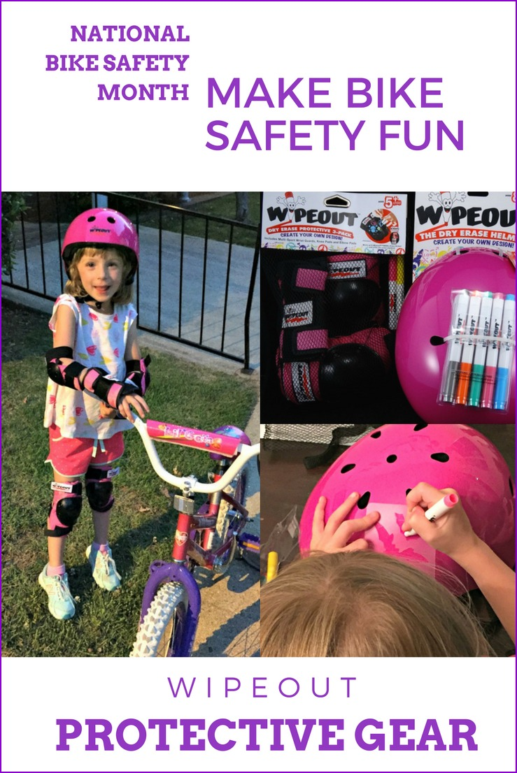Bike safety really can be fun with Wipeout Gear Dry Erase Protective helmet and pads! Kids can customize their helmets and pads anyway they like!