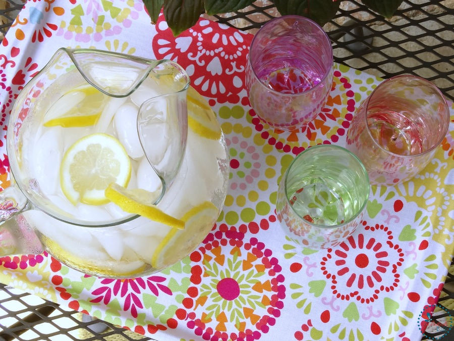 DIY Fabric Covered Tray use it to serve drinks