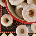 Mini Baked Donuts with Caramel Glaze