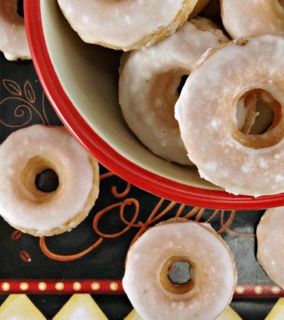 Mini Baked Donuts with Caramel Glaze