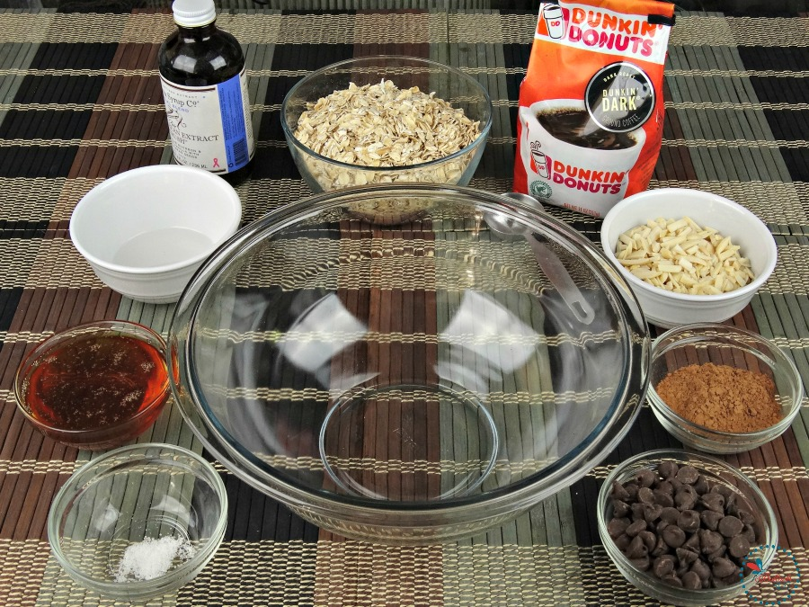 Mocha Granola ingredients