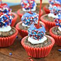 Patriotic Brownie Bombs: Easy Bite-Size Brownies for Memorial Day or The Fourth