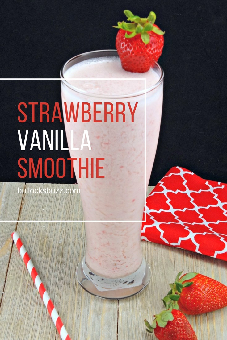 Made with fresh strawberries, yogurt and milk, this Strawberry Vanilla Smoothie is deliciously smooth, creamy and refreshing.