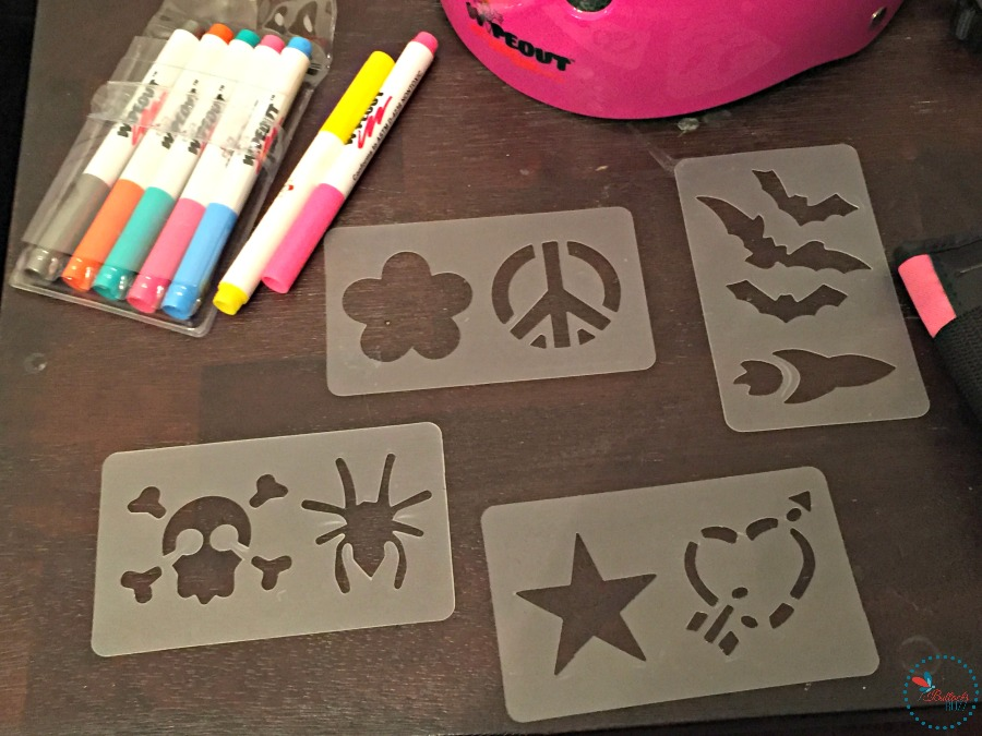 Wipeout Dry Erase Protective Gear markers and stencils