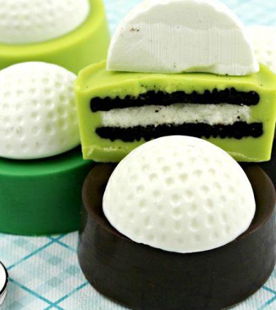 Golf Ball Cookies – Chocolate-Dipped Oreos
