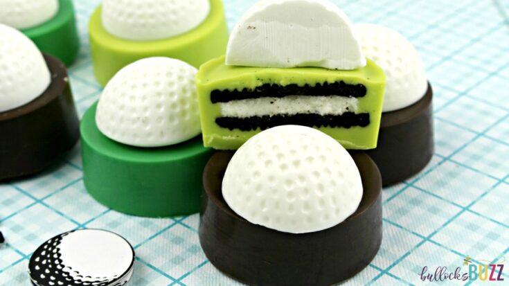 Chocolate-Dipped Golf Ball Cookies