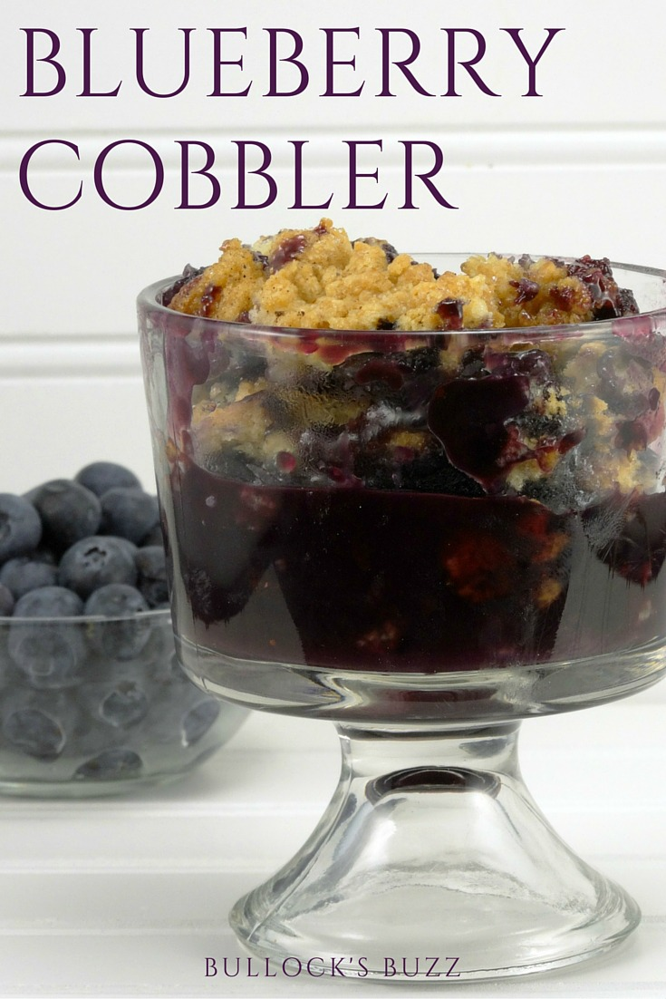Fresh Florida blueberries are lightly sweetened and spiced, covered with a flaky nutmeg- and-sugar dusted topping, and then cooked to perfection in this mouth-watering Blueberry Cobbler recipe.
