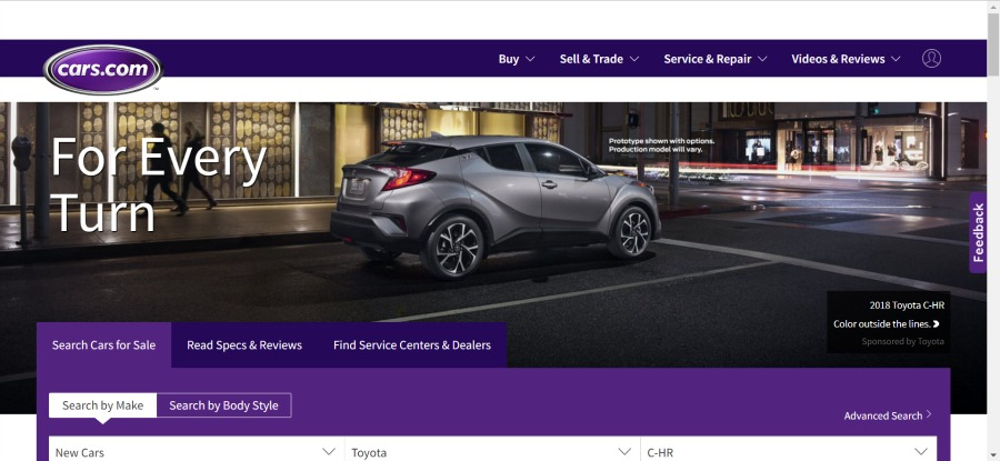 buying a family car on cars.com