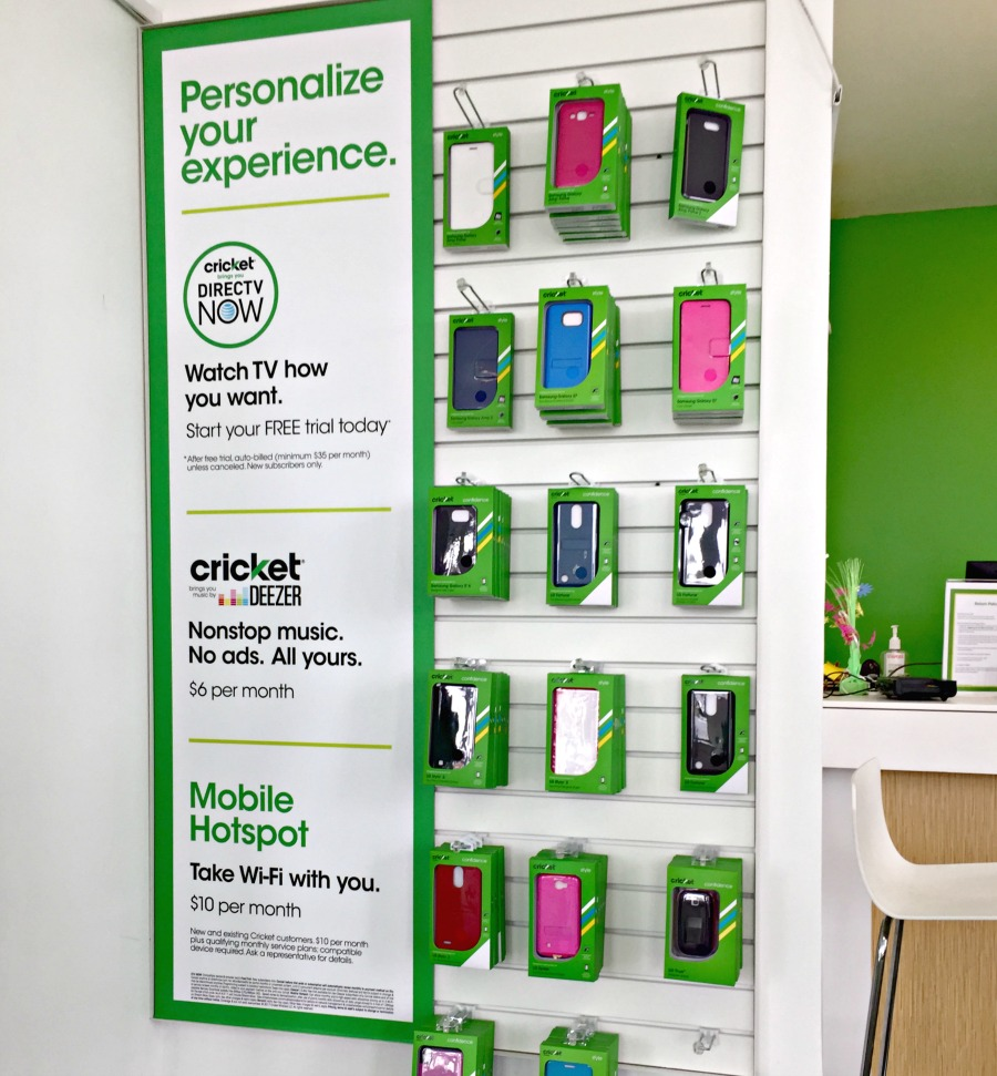 Cricket Wireless in-store accessories