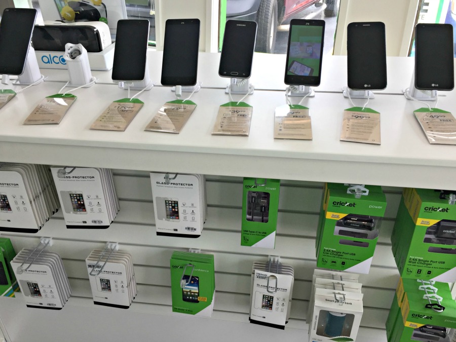 Cricket Wireless in-store more phones to select from