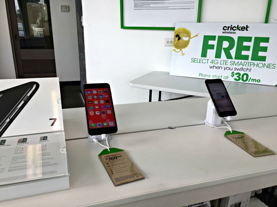 Cricket Wireless in-store iphones