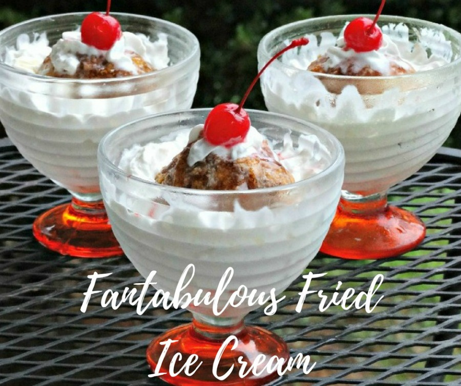 Rich and creamy vanilla ice cream is rolled in crispy, cinnamon-sweet cornflakes in this Fantabulous Fried Ice Cream recipe. More frozen recipes S'mores Pudding Pops