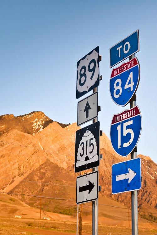 Highway 89 in Box Elder County