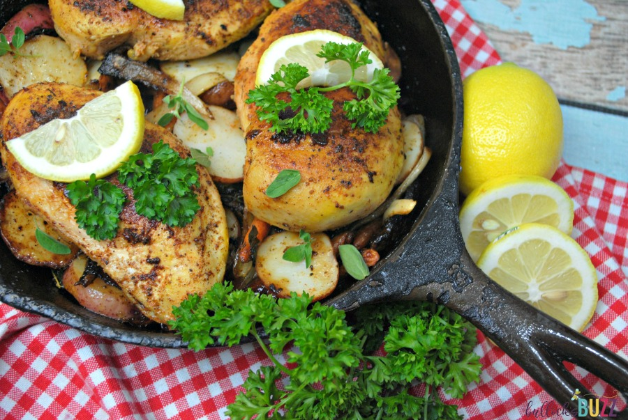 Lemon Tarragon Skillet Chicken cooked