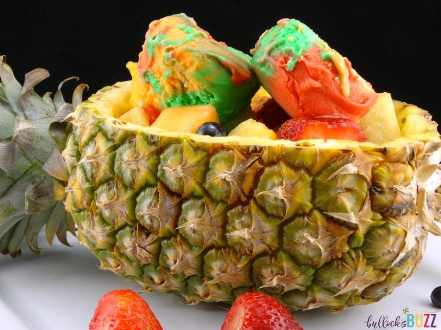 Pineapple Boat Fruit Salad