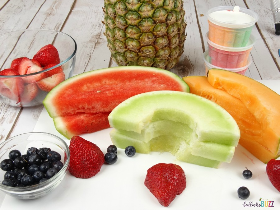 Pineapple Boat Fruit Salad ingredients