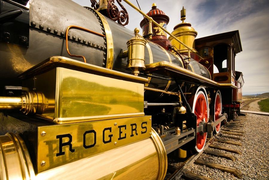 Locomotive at Golden Spike National Historic Site in Box Elder County