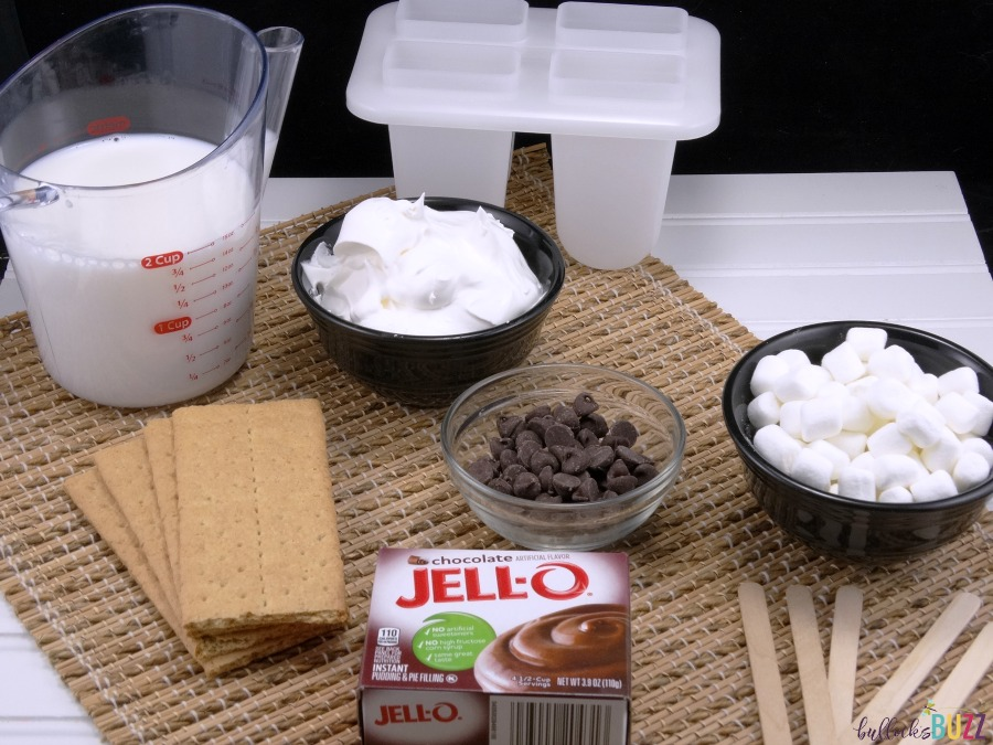 S'mores Pudding Pops ingredients