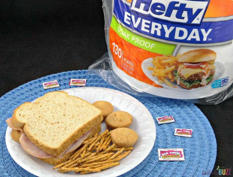 3 Ways to Help Your Child's School + Free Box Tops Collection Sheet Hefty plates
