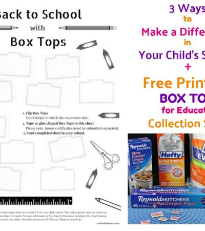 3 Ways to Help Your Child's School + Free Box Tops Collection Sheet