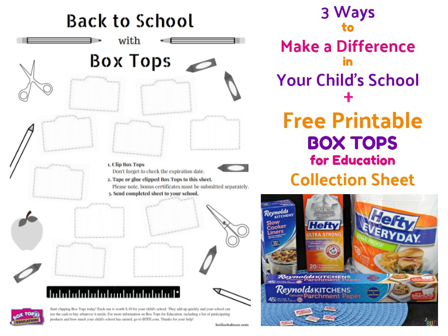image regarding Printable Box Tops Collection Sheets called 3 Techniques towards Assist Your Childs Higher education + No cost Box Tops