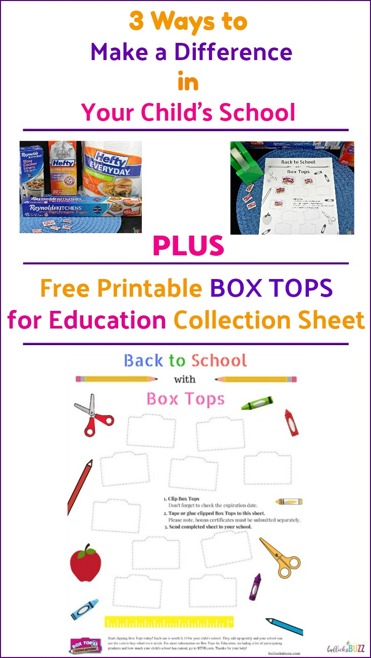 Make a difference in your child's school with these three tips and by collecting Box Tops for Education. Plus, be sure to print this free Box Tops Collection Sheet to help you keep up with the Box Tops your family collects!