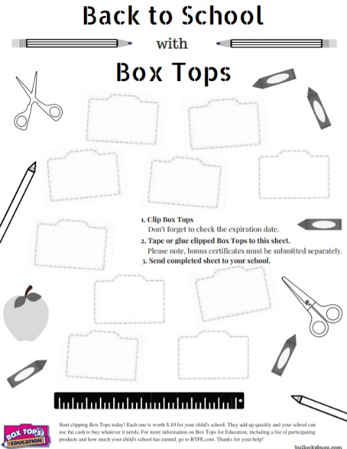 3 Ways to Help Your Child's School + Free Box Tops Collection Sheet printable