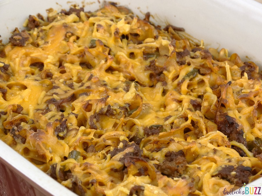 Cheesy Beef and Noodle Casserole bake for 45 mins