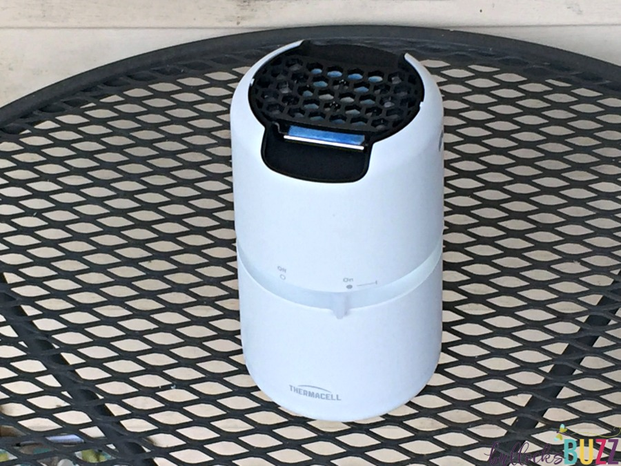 Thermacell Halo Mosquito Repeller working