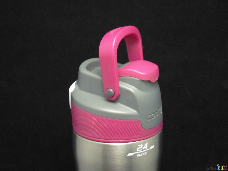 Contigo Spill Proof Kids Tumbler & Autoseal Stainless Water Bottle Review handle on Autoseal Chill
