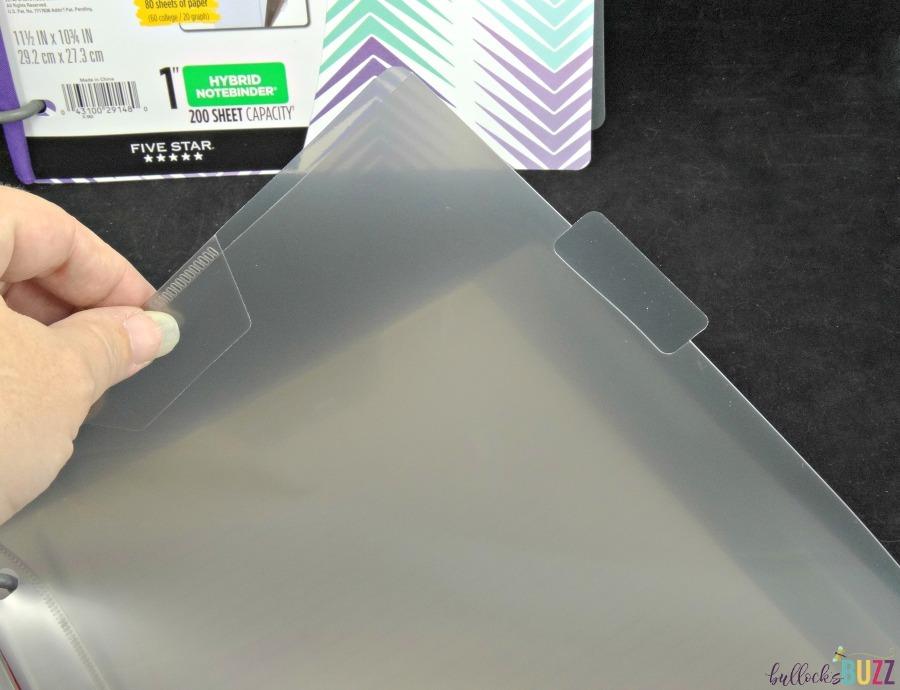 tab dividers in Hybrid Notebinder from Five Star school supplies