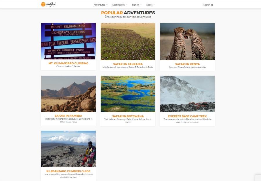 Mojhi popular adventures