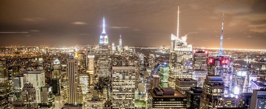visiting new york city skyline