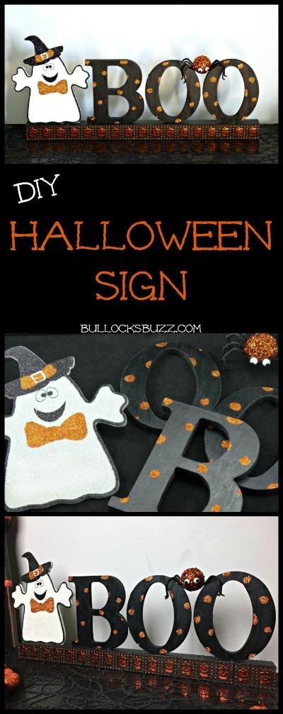 DIY Halloween Sign BOO