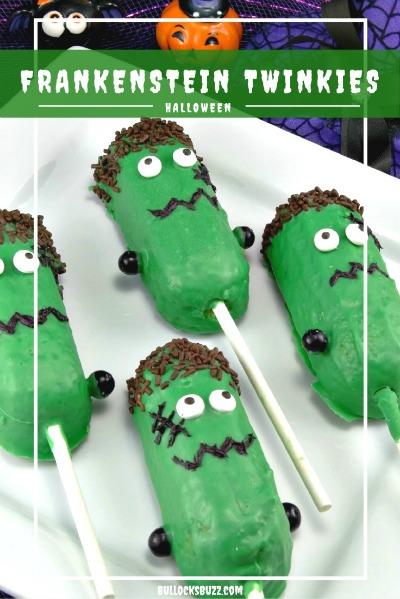 Halloween treats Frankenstein twinkies