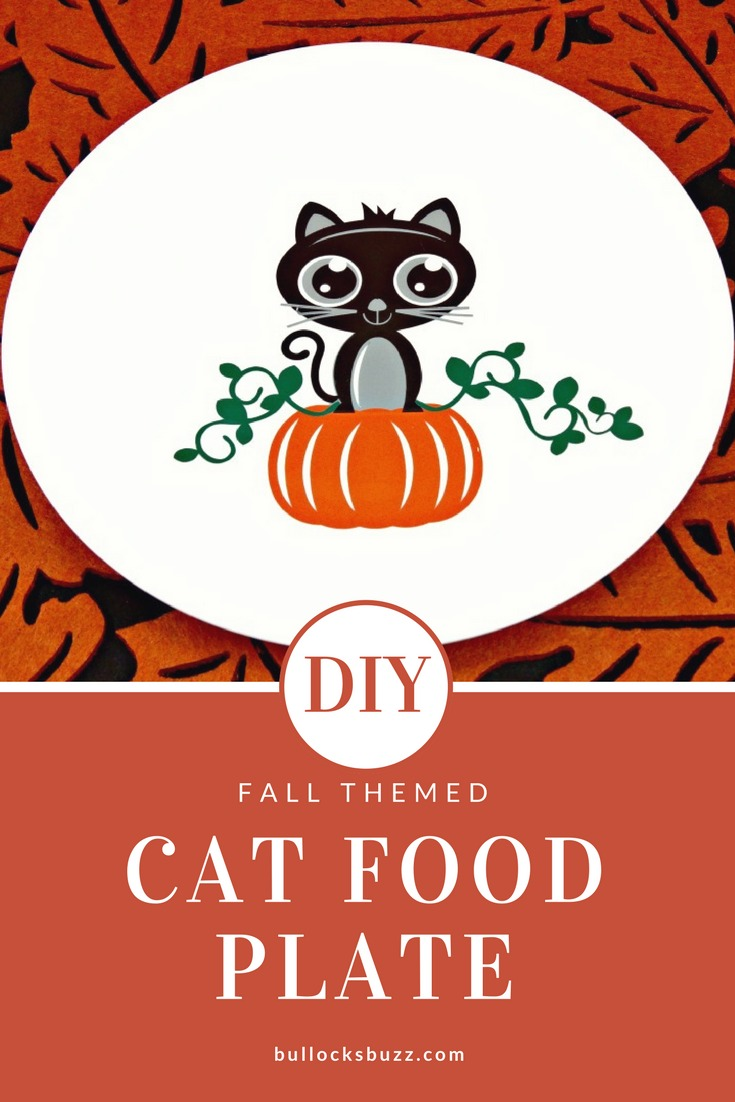 This super cute DIY Cat Food Plate is a wonderful way to welcome the Fall Season and serve up your feline's favorite foods!