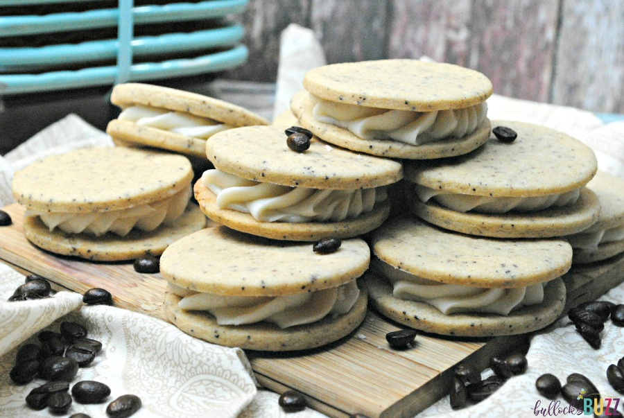 French Vanilla Coffee Sandwich Cookies are quick and easy to make