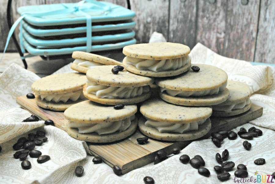 If you like coffee and cookies, you will love this recipe for French Vanilla Coffee Sandwich Cooki