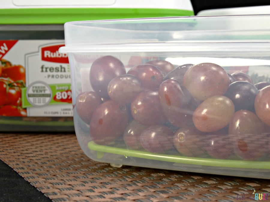 grapes in a Rubbermaid container