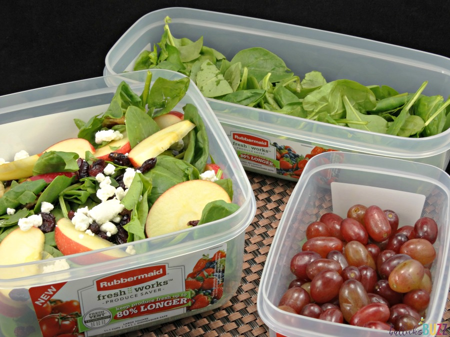 salad in rubbermaid container