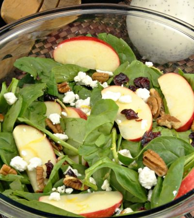 Fresh Fall Salad with Creamy Poppy Seed Dressing & Rubbermaid FreshWorks