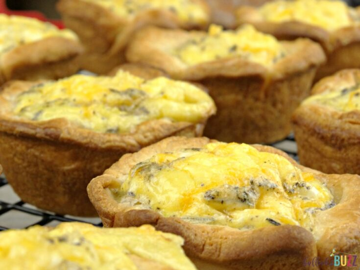 Sausage, Egg and Herbed Cheese Breakfast Muffins