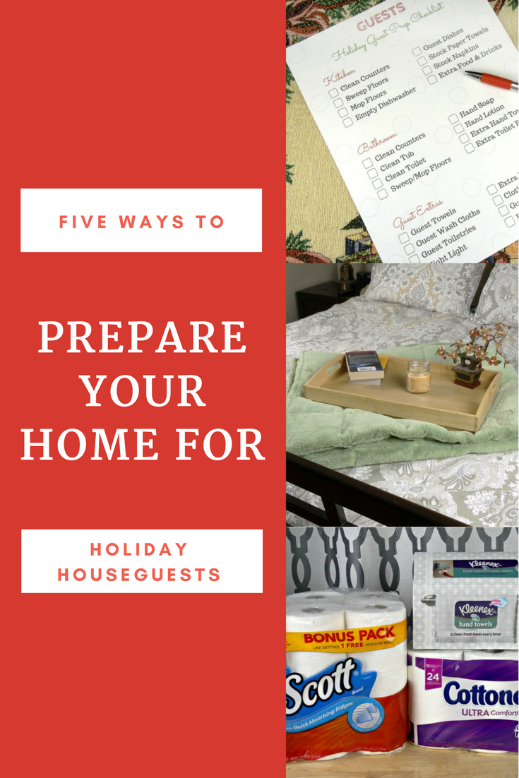If you have guests staying in your house for the holidays, you'll love these tips for preparing your home for holiday houseguests! Plus, a free printable!
