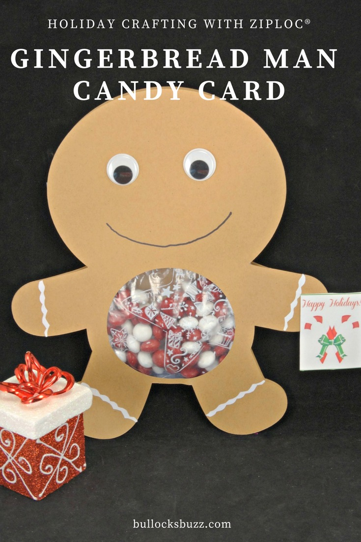 'Tis the season for holiday crafting, and this adorable gingerbread man candy card is a sweet way to spread some holiday cheer to friends and family