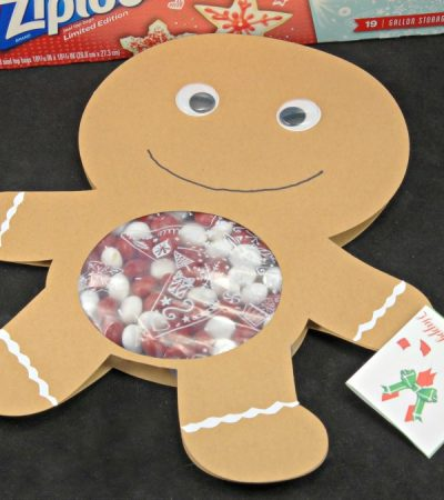 DIY Gingerbread Man Candy Card – Holiday Crafting with Ziploc® Brand Bags